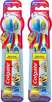 2-Pack Colgate Minions Kids Toothbrush with Extra Soft Bristles