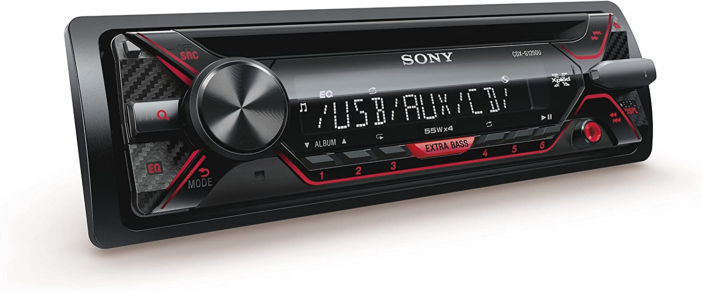 Sony Cdxg1200u Eur Autoradio Cd Player Usb Aux Eingang 4x 55 Watt Extra Bass Rot Schwarz Navigation