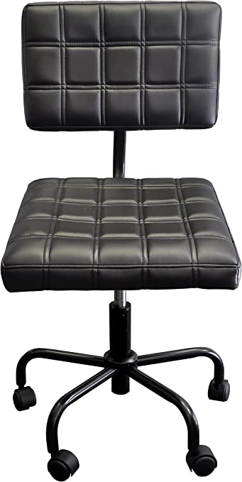 Urban Shop Rolling Quilted Computer Chair, Black