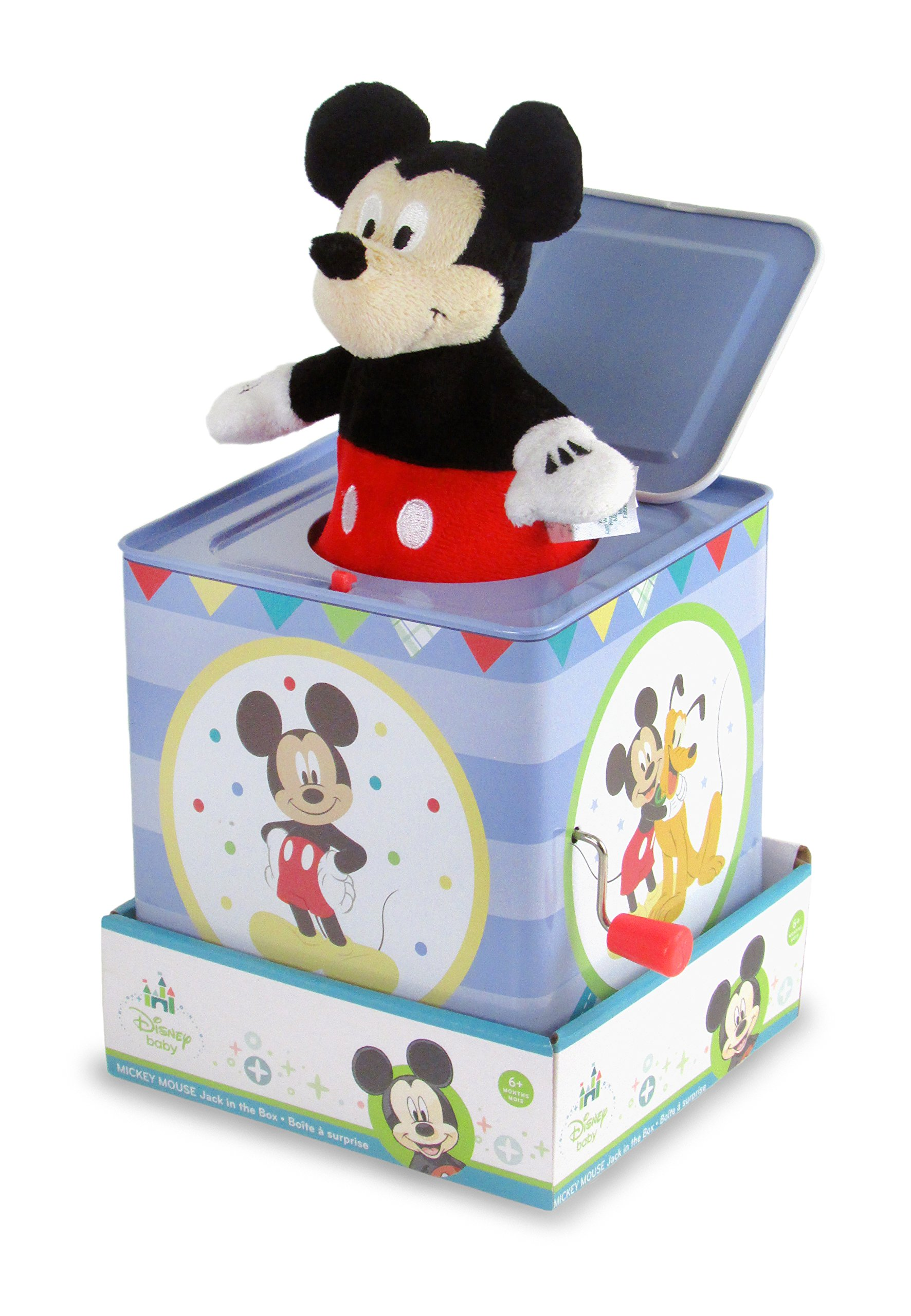 Disney Baby Mickey Mouse Jack-in-the-Box, 6.5''