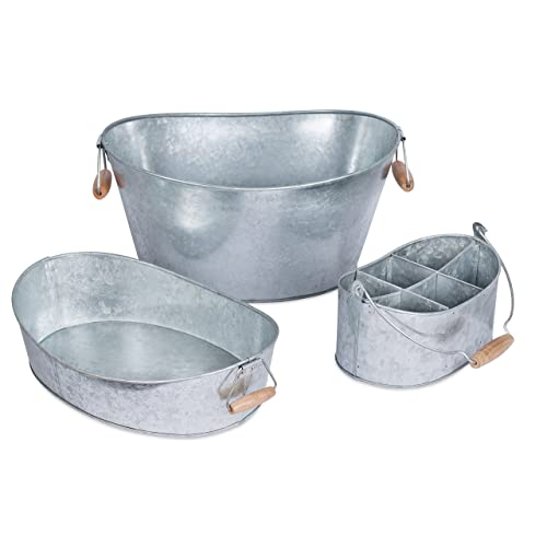Galvanized Serving Pieces Amazon Com