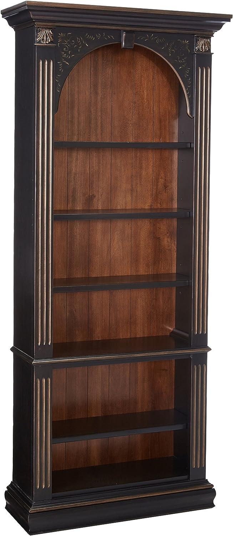 Hooker Furniture Black Bookcase, Gold Accents
