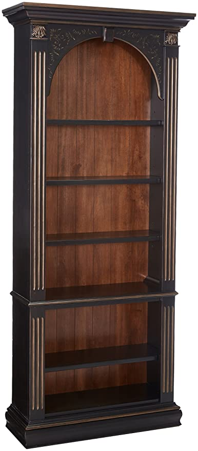 Charmant Hooker Furniture 500 50 385 Black Bookcase, Black With Gold Accents