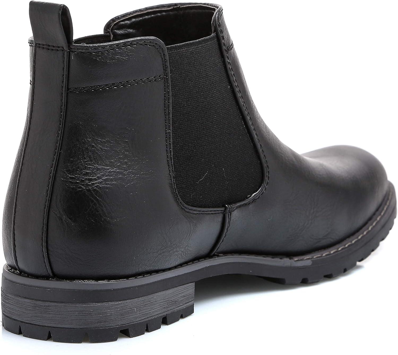 MForshop Scarpe Uomo Stivaletto Tronchetto Eco Pelle Boots Elastico Chelsea y28