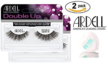 3a227e05c3e Amazon.com : Ardell Professional DOUBLE UP Lashes, 2-pack (with Sleek  Compact Mirror) (Double Demi Wispies (2-pack)) : Beauty