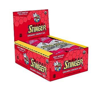 Honey Stinger Organic Energy Gel, Fruit Smoothie, Sports Nutrition, 1.1 Ounce Pack of 24