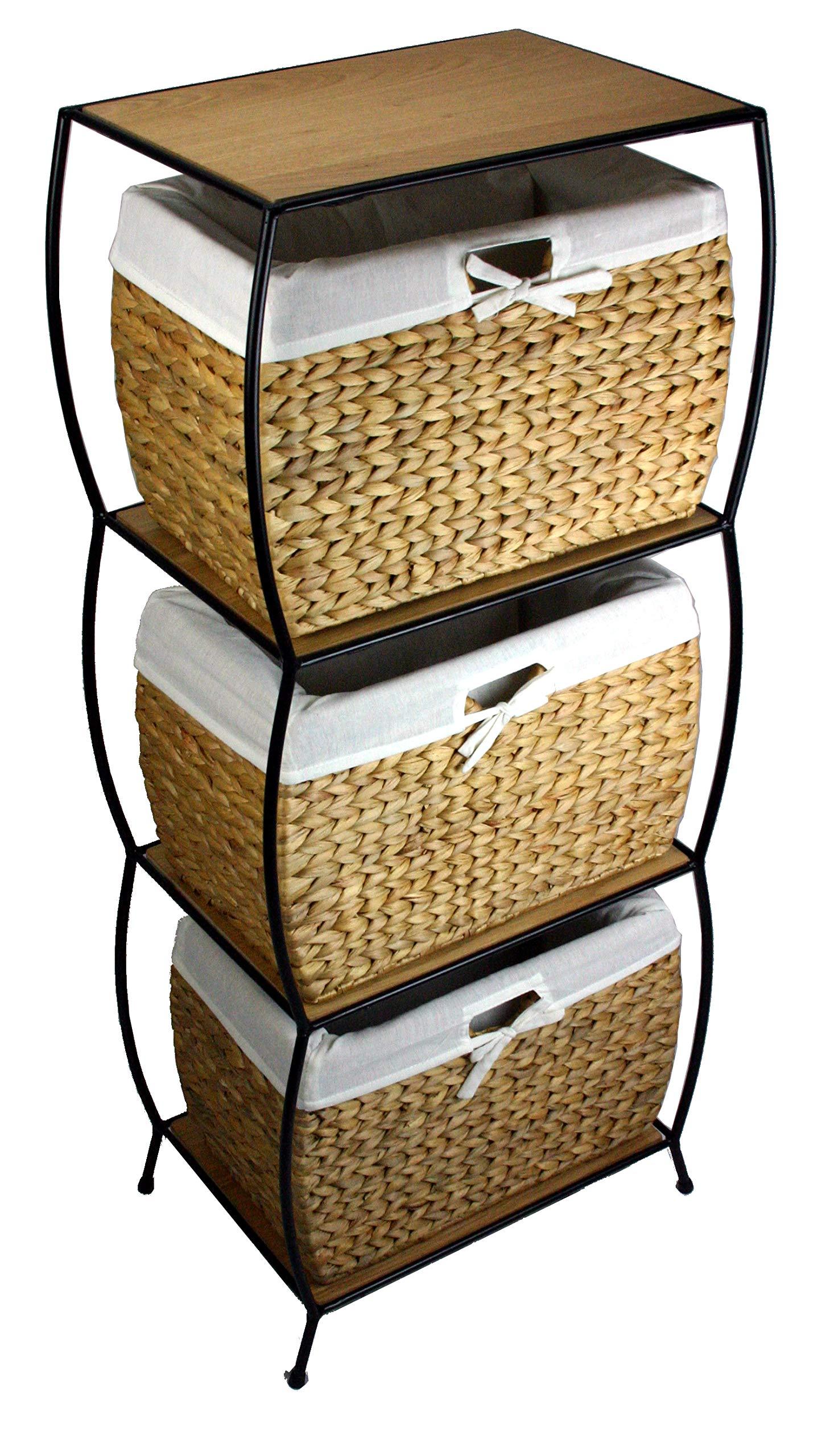 PTC Home and Garden Nassau Three Drawer File Cabinet