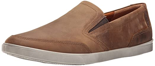 ECCO Men's Collin Slip-On Loafer, Camel/Cocoa, 46 EU/12