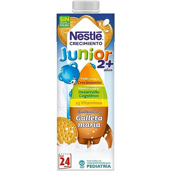 Nestlé Junior Crecimiento 2+ Galleta María - Leche para niños a partir de 2 años - 6 x 1 L, sin aceite de palma: Amazon.es: Alimentación y bebidas