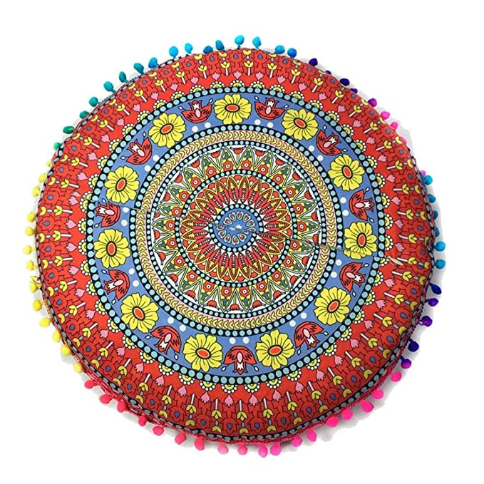 Amazon.com: Indian Mandala de piso fundas de almohada ...