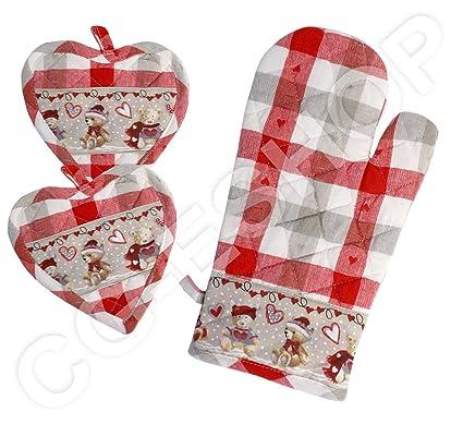 Idee Regalo Natale Cucina.Confezioni Giuliana Set 2 Presine 2 Guanti Forno Idea