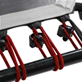 Sportplus Set da 36 Corde Elastiche di Ricambio per Trampolino Fitness/Mini Trampolino Elastico | Rosse