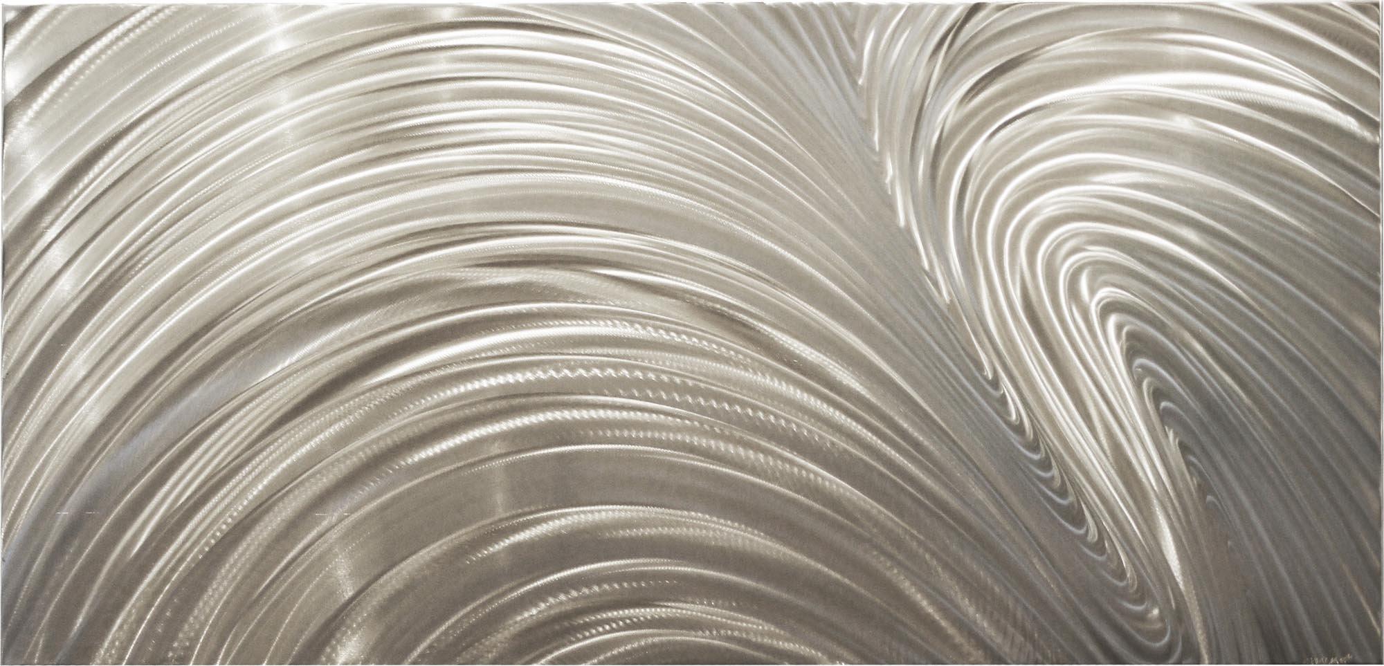 Fusion - Original Metal Art Abstract Metallic Painting Contemporary Wall Sculpture Modern Interior Design by Renowned Artist Nicholas Yust