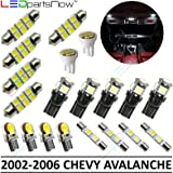 LEDpartsNow Interior LED Lights Replacement for 2002-2006 Chevy Avalanche Accessories Package Kit (20