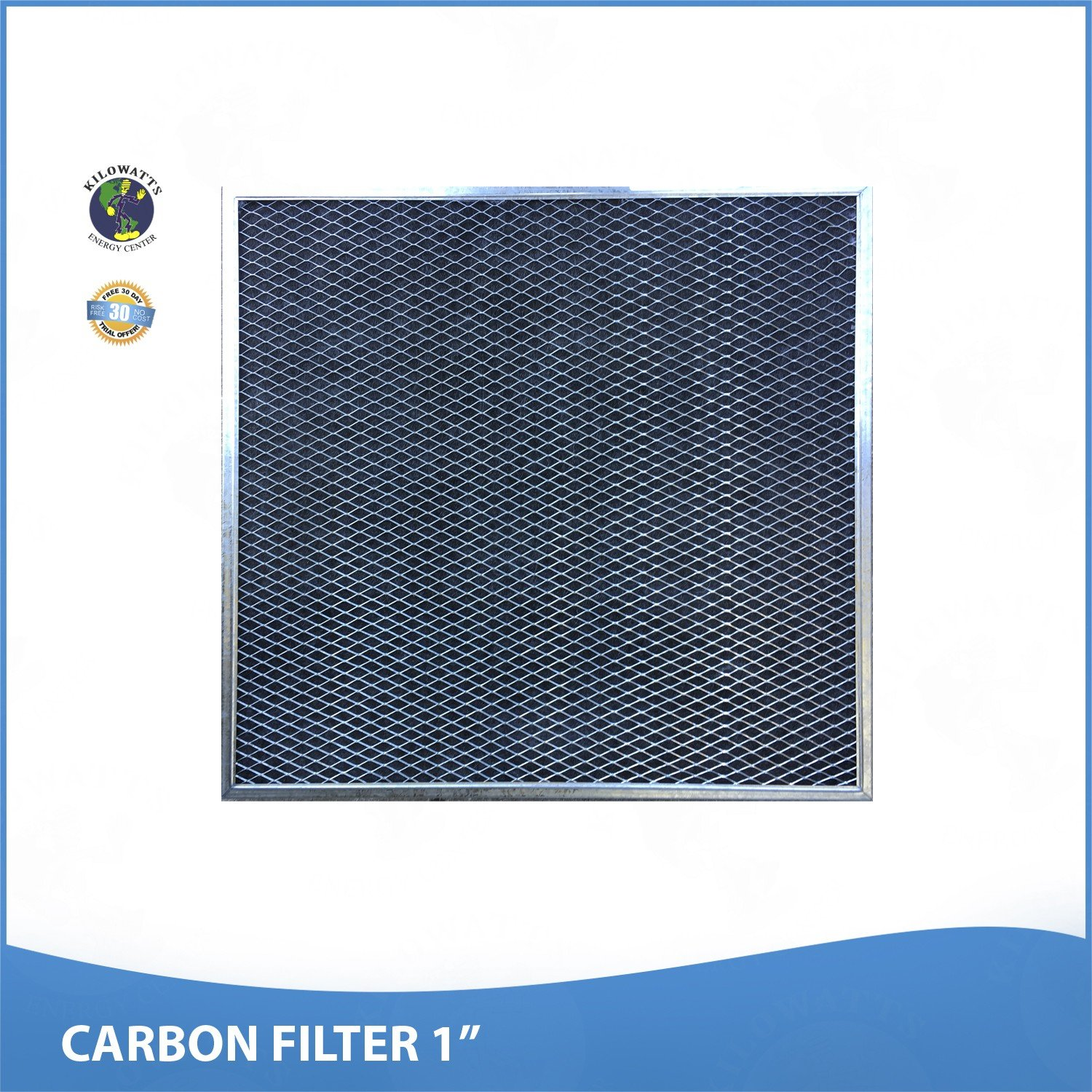 20x20x1 Activated Carbon Particles A/C Furnace Air Filters, Steel Frame