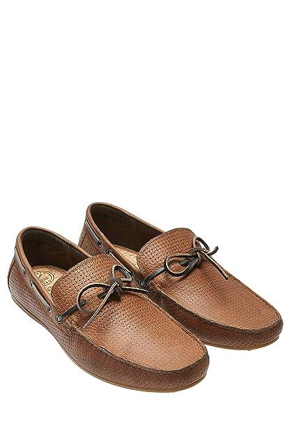 Next Hombre Mocasines Cordones Trama Corte Regular Bronceado EU 47: Amazon.es: Zapatos y complementos