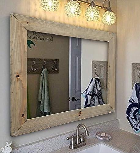 Amazon Com Shiplap Rustic Wood Framed Mirror 20 Stain Colors Large Wall Mirror Rustic Barn Wood Style Bathroom Vanity Mirror Decor For Bathroom Large Mirror For Wall Full Length Wall Mirror Handmade