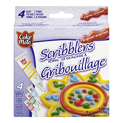 Cake Mate, Decorating With Ease, Scribblers Icing Original, 4x19g:  Amazon.ca: Grocery