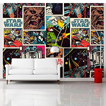 Great Kidsbedrooms Papier Peint Xxl Comics Star Wars 360x255 Cm
