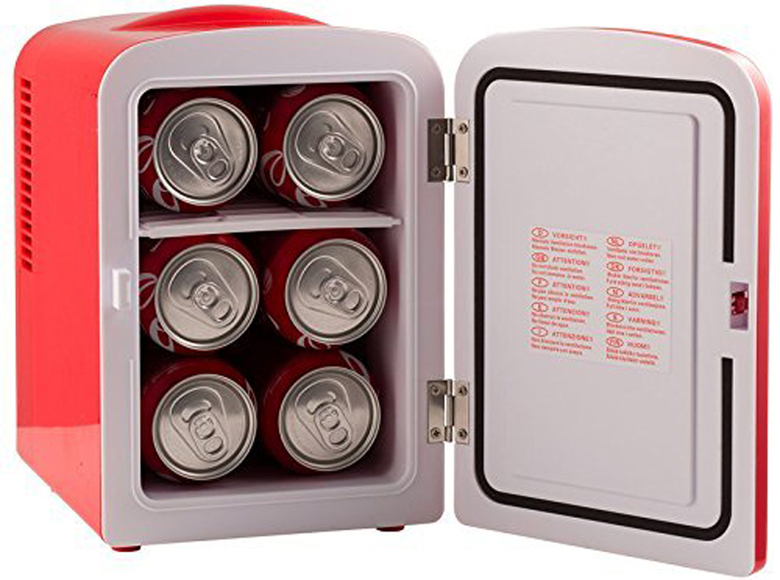 Gourmia GMF600 Thermoelectric Mini Fridge Cooler and Warmer - 4 Liter/ 6 Can - For Home,Office, Car, Dorm or Boat - Compact & Portable - AC & DC Power Cords - Red by Gourmia (Image #9)