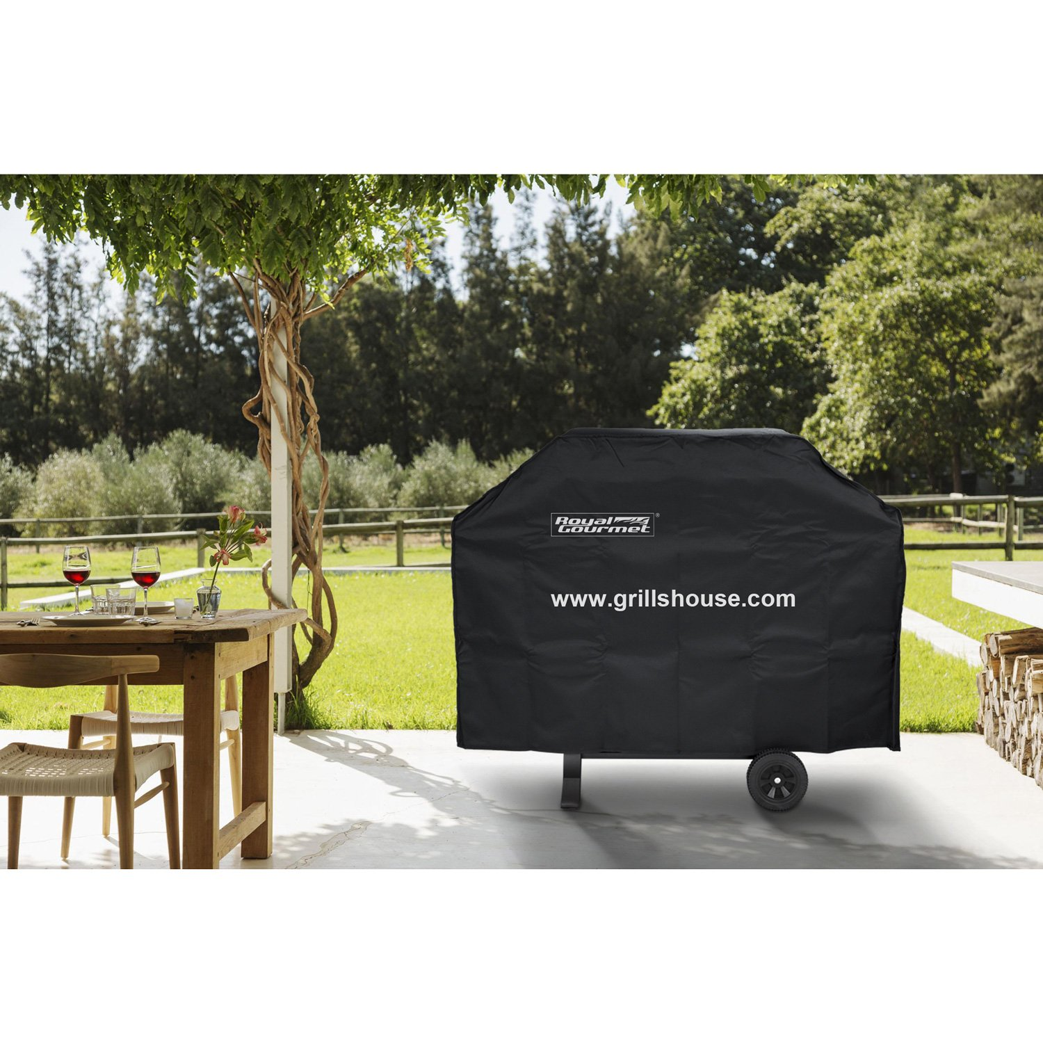 Royal Gourmet Bbq Grill Cover With Heavy Duty Waterproof Polyester