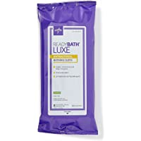 Medline ReadyBath LUXE Scented Antibacterial Body Cleansing Cloths, Extra Thick Wipes (Pack of 24)