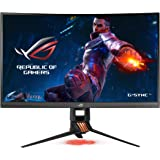 "ASUS ROG Swift PG27VQ 27"" 1440p 1ms 165Hz DP HDMI G-SYNC Aura Sync monitor curvo para jogos com cuidado para os olhos"