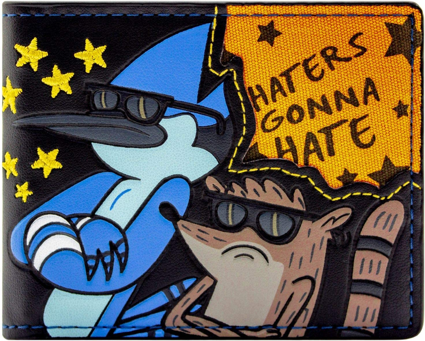 Regular Show Haters Gonna Hate Noir Portefeuille