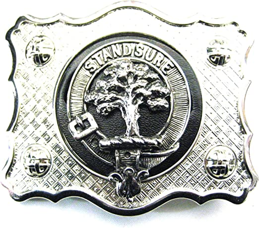 Anderson Kilt Belt Buckle Made in Scotland Anderson Clan Crest Buckle