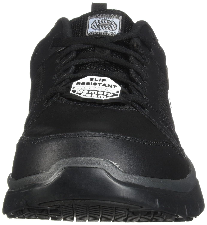 Amazon.com | Skechers for Work Men's Flex Advantage Slip Resistant Oxford  Sneaker | Fashion Sneakers