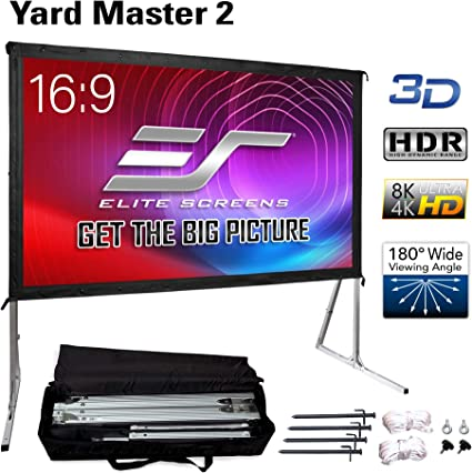Elite Screens Yard Master Outdoor Projector Screen - Best Foldable Screen