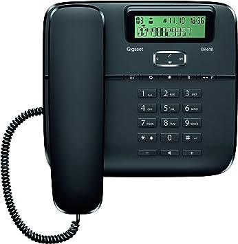 Gigaset DA610 - Teléfono Fijo de Sobremesa con Manos Libres e Identificación de Llamada, Plástico, 61 x 178 x 196 mm, Color Negro: Gigaset: Amazon.es: Electrónica