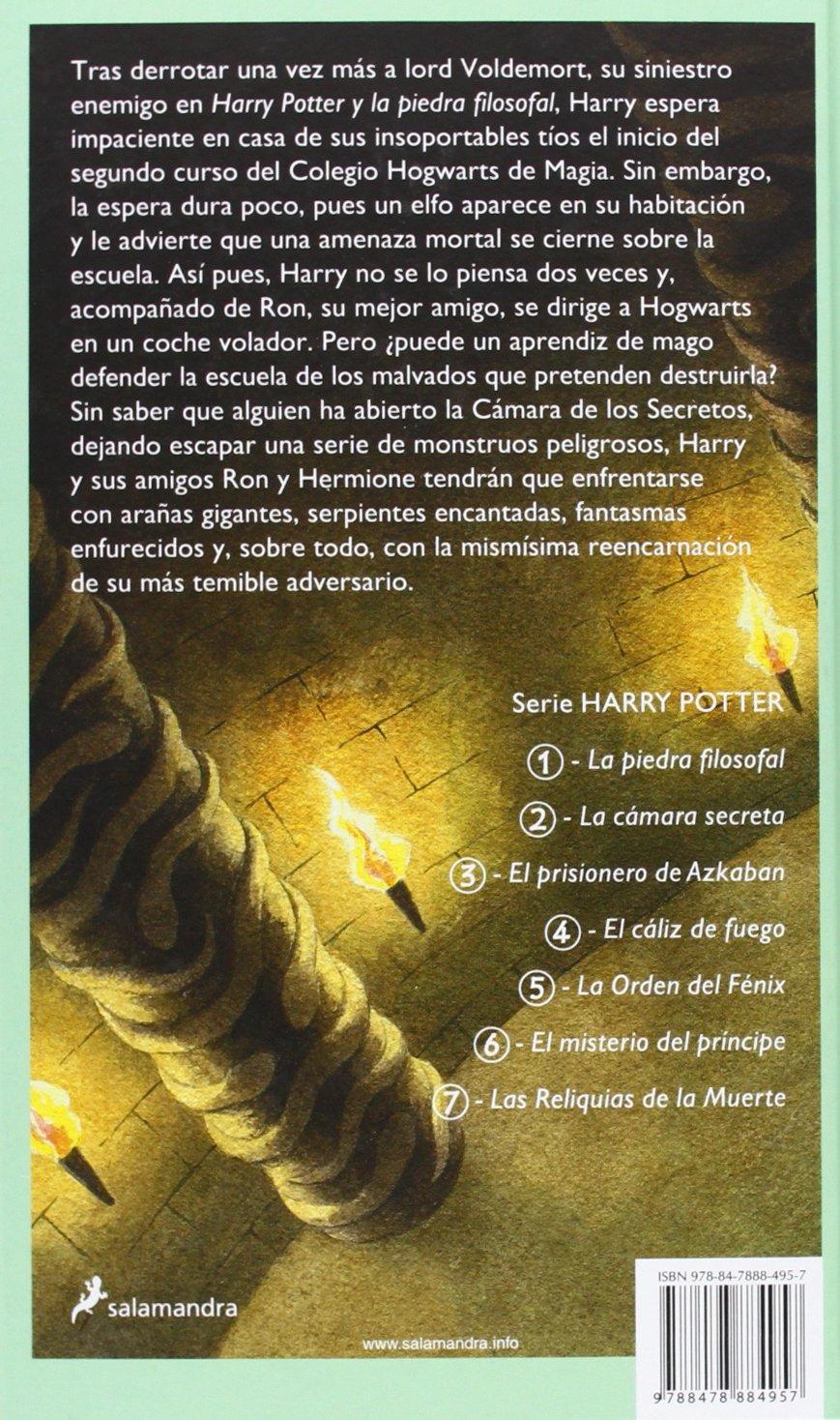 Harry Potter y La Camara Secreta: Amazon.es: Rowling, J.K. ...