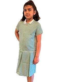 Paradise Girls School Gingham Dress Summer School Uniform Pleated Zip UP 5-16 Years New