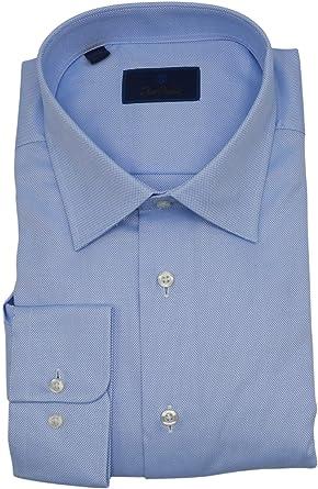 David Donahue Royal Oxford - Camisa de Vestir para Hombre (Corte Regular), Color Blanco