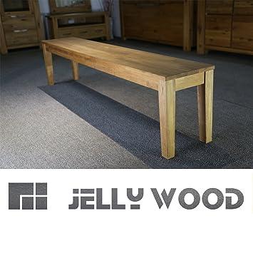 Jellywood® ISAR massive Sitzbank 180 x 33 cm Holzbank Bank ...