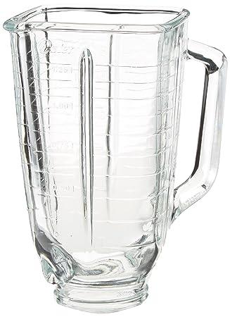 Oster 5-cup cuadrado superior de vidrio jarra de batidora, cuadrado, claro: Amazon.es: Hogar
