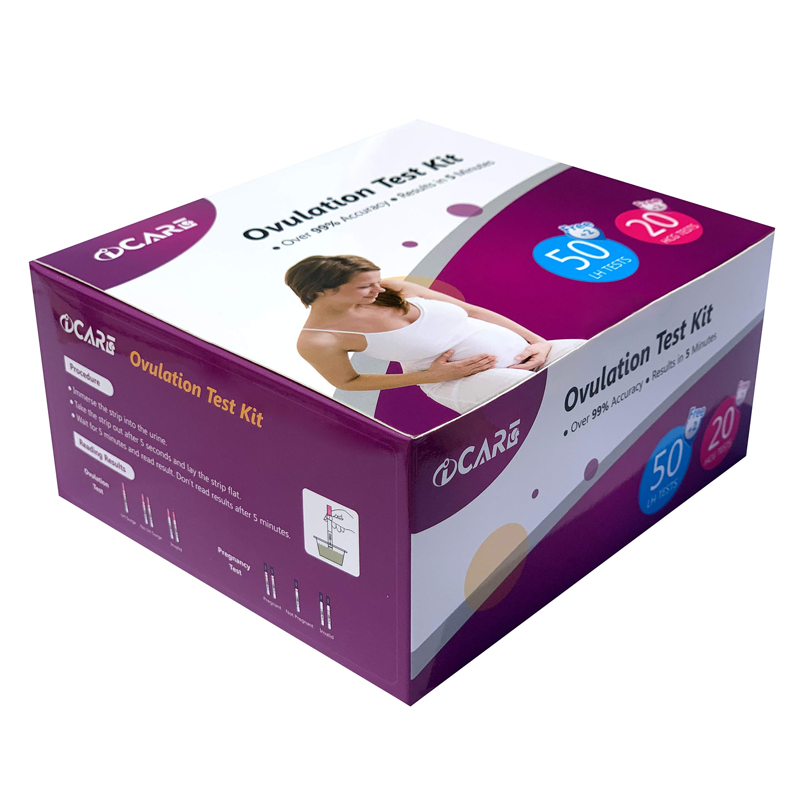 60% discount on Aicare 52 LH + 22 HCG OPK Ovulation and