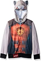 Guardians of the Galaxy Boys' Rocket Raccoon Sublimated Costume Zip-up Hoodie