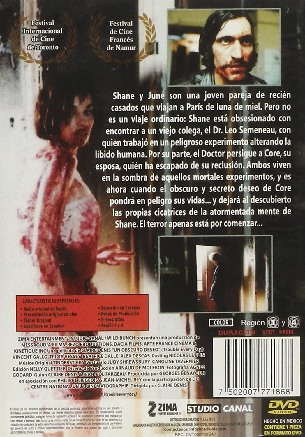Amazon.com: Un Obscuro Deseo [Regions 1 & 4]: Vincent Gallo, Claire Denis, Tricia Vessey, Béatrice Dalle, Alex Descas, Florence Loiret-Caille: Movies & TV