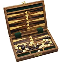 RoyaltyRoute Deluxe Wooden Backgammon Set Board Game Handmade in India