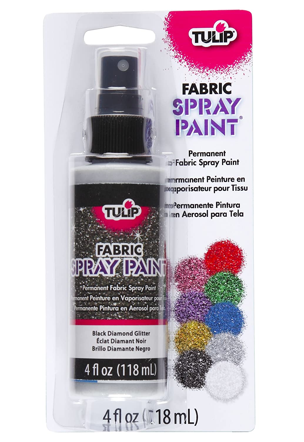glitter fabric spray paint