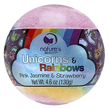 0bfeb79eb5b18 Amazon.com: Nature's Beauty Unicorns & Rainbows BATH BOMB, 4.6 Oz ...