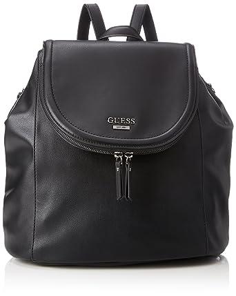 Damen Bags Hobo Rucksackhandtasche, Schwarz (Black), 12x25x25.5 centimeters Guess