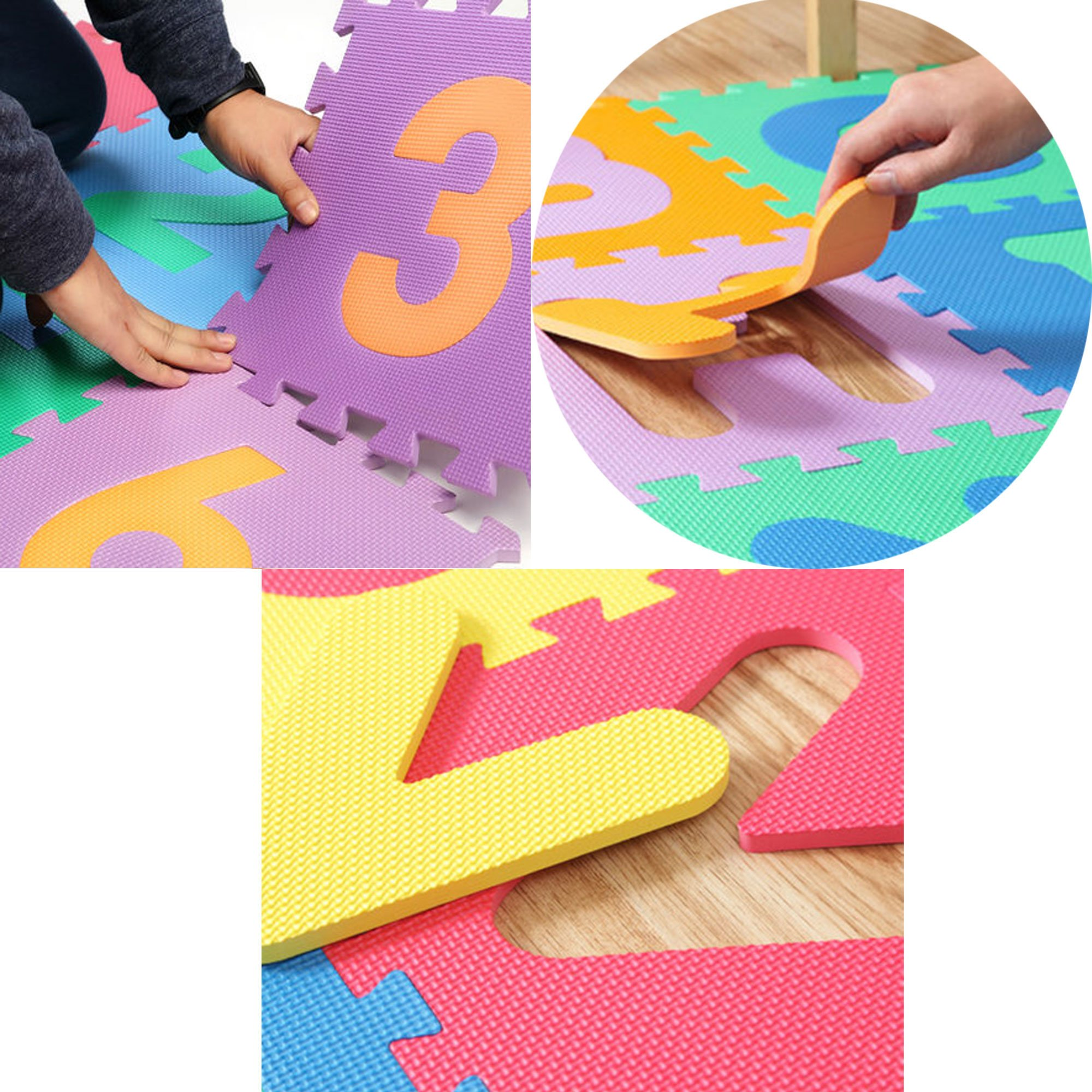 Puzzle Play Mat,Foam Floor Play Mat,Foam Interlocking Tiles,Alphabet & Number Foam Puzzle Mat,NON-TOXIC EVA 36 Piece Multi-Color Children Play & Exercise Mat (Large) (Large) by Chuanyue (Image #6)
