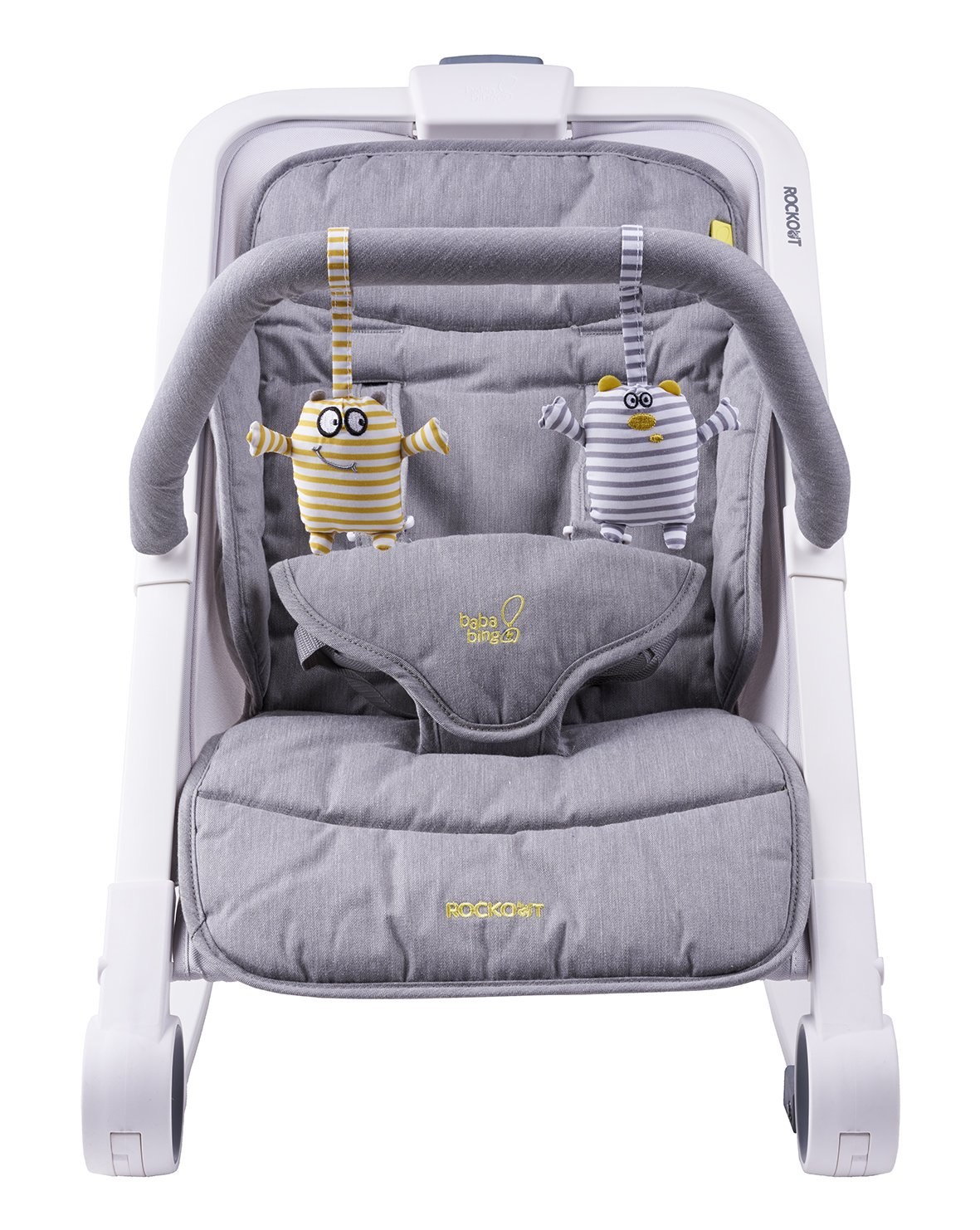 Bababing Rockout 3 Position Baby Rocker/Bouncer, Grey baba bing BB50-002