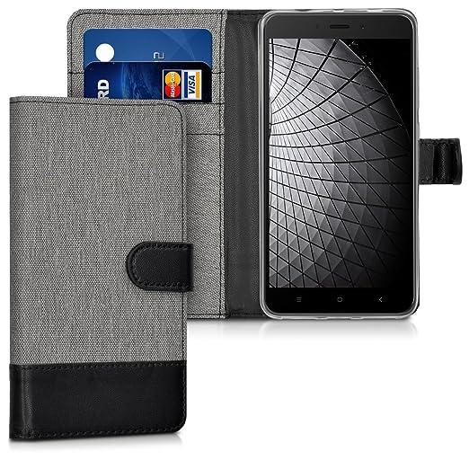 3 opinioni per kwmobile Custodia portafoglio per Xiaomi Redmi Note 4- Cover in simil pelle a