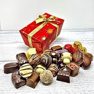 Marky's Belgian Chocolate Holiday Assorted Gift Box – 1.5 lbs – Belgium Sweets Basket Gourmet Gift