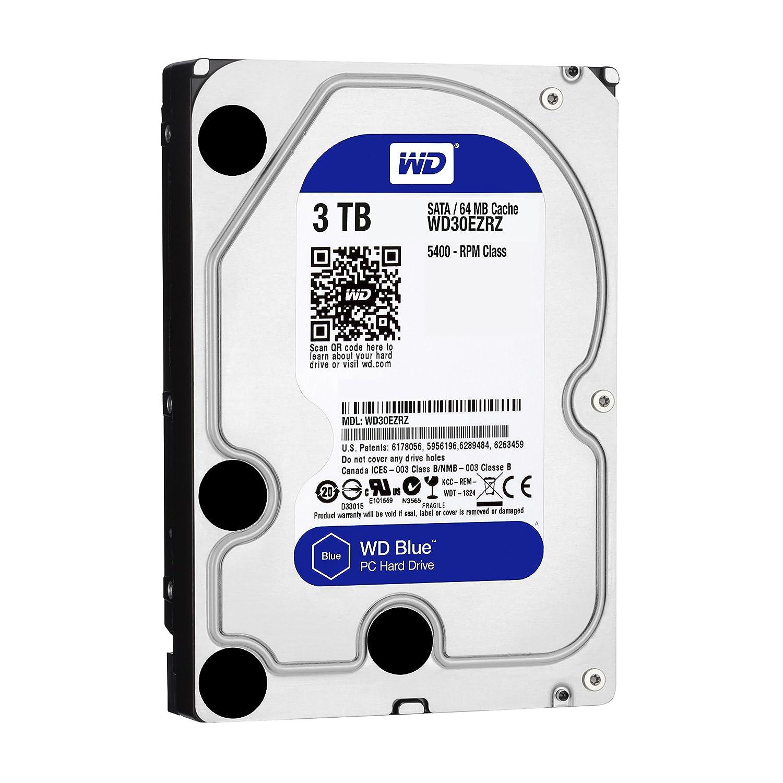 【Amazon.co.jp限定】WD HDD 内蔵ハードディスク 3.5インチ 3TB WD Blue WD30EZRZ/AFP SATA3.0 5400rpm 2年6ヶ月保証 (FFP)