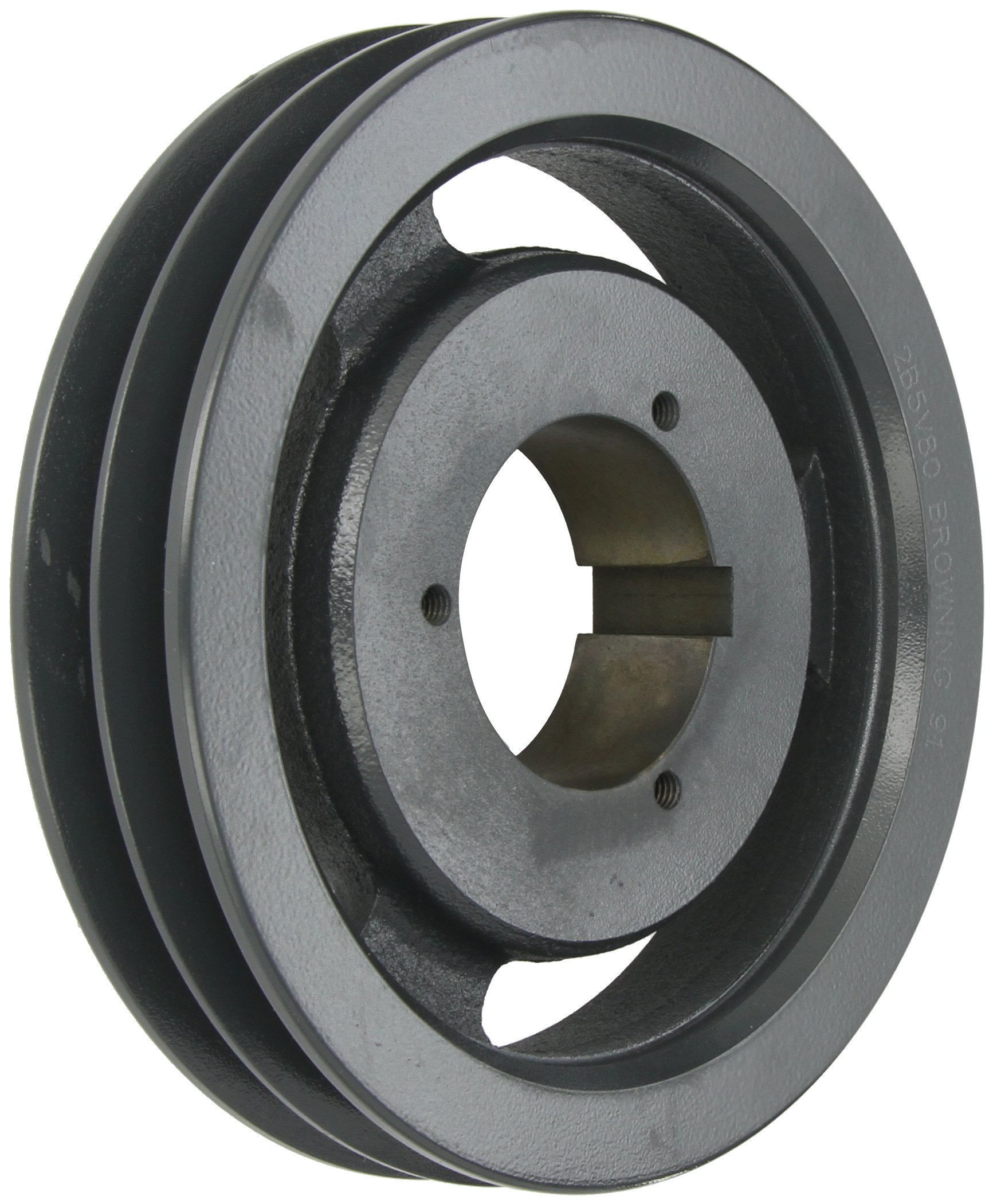 Browning 2B5V80 Split Taper Sheave, Cast Iron, 2 Groove, A, B or 5V Belt, Uses B Bushing
